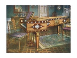 Late Eighteenth-Century Decorative Furniture. Satinwood and Mahogany Inlaid Pianoforte, with… Giclee Print by Edwin John Foley