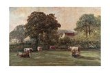 Farmhouse in Hyde Lane Giclee Print by Francis S. Walker