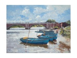 Moorings at Hampton Court, 2011 Giclee Print by Christopher Glanville