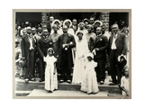 Wedding Party of Revd Prempeh, Son of the Late King Prempeh and Miss Mary Asafu-Adjaye, c.1931 Giclee Print by N. T. Clerk
