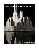 Skyscrapers, Front Cover of the 'Dupont Magazine', March 1929 Giclee Print by  American School