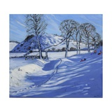 Sledging, Derbyshire Peak District, 2012 Giclee Print by Andrew Macara