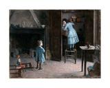 Children in an Interior, 1907 Giclee Print by Henri Jules Jean Geoffroy
