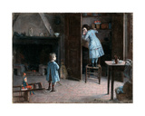 Children in an Interior, 1907 Giclee Print by Jules Jean Geoffroy
