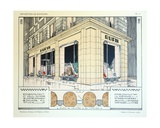 Furrier, Plate 9, Illustration from 'Devantures de Boutiques' by Louis-Pierre Sezille, Paris, 1927 Giclee Print by  French School