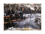 Ice-Skating Rink in the Tiergarten, Berlin; Eisbahn Im Berliner Tiergarten, 1909 Giclee Print by Lovis Corinth