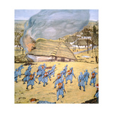 The First Austrian-Hungarian Landsturm Regiment Attacks Serbian Village of Stady Korciyan,… Giclee Print by German School