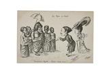 Les Rois En Exil. Presentations Royales: 'Amis, Tous Amis!', c.1906 Giclee Print by L. Chagny