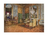 Salon de Musique of Queen Marie Antoinette, Palace of Fontainebleau, France. Carved and Gilt… Giclee Print by Edwin John Foley