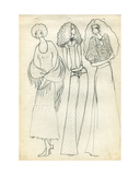 Fashion Design Sketch, c.1970 Giclee Print by Nina Ivanovna Shirokova