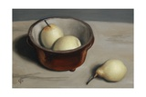 Three Pears in a Bowl, 2010 Giclee Print by James Gillick