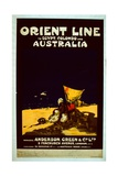 Orient Line Poster, c.1920 Giclee Print by  English School