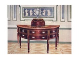 Semicircular Mahogany Sideboard and Knife-Box Giclee Print by Edwin John Foley