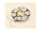 A Plate of Oysters, 2012 Giclee Print by Alison Cooper