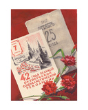 '42 Years Anniversary of the Great October Revolution', Sketch for a Postcard, 1959 Giclee Print by Svetlana Ryazanova