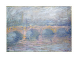Waterloo Bridge, London, at Sunset, 1904 Giclee Print by Claude Monet