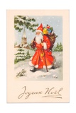 Christmas Postcard, c.1907 Giclee Print by  French School