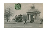 Quadriga Peace on Wellington Arch in London. Postcard Sent in 1913 Giclee Print by  English Photographer