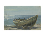 Boat on the Beach, Gurzuf, Black Sea, 1951 Giclee Print by Svetlana Ryazanova