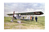 A Nieuport 10 Biplane During the Battle of the Marne East of Paris, September 1914 Giclee Print by Jules Gervais-Courtellemont
