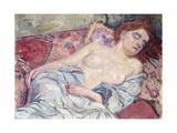 Nude on a Divan; Nu Au Divan, 1907 Giclee Print by Théo van Rysselberghe