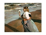 The Little Granddaughter, 1908 Gicleetryck av Joaquín Sorolla y Bastida