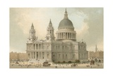 St Paul's Cathedral Giclee Print by  English School