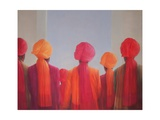 Turban Group, 2012 Giclee Print by Lincoln Seligman