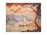 Antibes, Petit Port de Bacon, 1917 Gicléetryck av Paul Signac