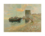At the Pier on the Black Sea, Roman Ruins, 1966 Giclee Print by Svetlana Ryazanova