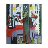 Max Liebermann in His Studio; Max Liebermann in Seinem Atelier, 1926 Giclee Print by Ernst Ludwig Kirchner
