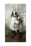 Portrait of Josefina Errazuriz Holding a Cat, 1910 Giclee Print by Giovanni Boldini