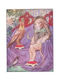 And the Eagle Looked Quite Regal, Illustration from 'Johnny Crow's Party', c.1930 Giclée-Druck von Leonard Leslie Brooke