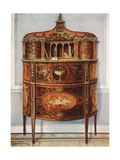 Inlaid and Painted Satinwood Writing-Desk Cabinet, Ormolu Mounted Giclee Print by Edwin John Foley