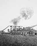 Our 16-Inch Railway Guns Demolish the 'Hun' Concrete Emplacements and Open the Way for the Infantry Photographic Print by  English Photographer
