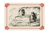 Primeval Billiards Giclee Print by Edward Tennyson Reed