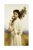 A Nymph Holding a Laurel Branch, 1900 Giclee Print by William Adolphe Bouguereau