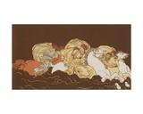Cloelia and Her Companions Giclee Print by Bartolomeo Pinelli