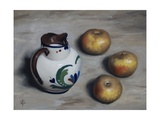 Three Apples and a Jug of Milk, 2010 Giclee Print by James Gillick