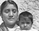 An Aztec Mother (Conchita with Her Mother Luz Jimenez, Maid of the Salas Fa Photographic Print by Tina Modotti