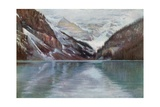 Lake Louise, the Lake in the Clouds Giclee Print by Harold Copping