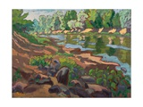 On the Shady Side of River Koros (2012) Giclee Print by Marta Martonfi-Benke