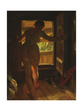 Mora Girl at an Open Door, 1903 Giclee Print by Anders Leonard Zorn