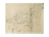 Mr Burridge Standing, 1948 Giclee Print by George Adamson