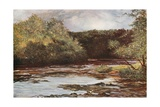 The River Ayr at Failford Giclee Print by Francis S. Walker