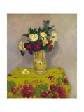 Yellow Daisies and Various Flowers, 1911 Giclee Print by Felix Edouard Vallotton