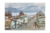 The Fish Market, Vancouver, the Mosquito Fleet Giclee Print by Harold Copping