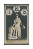 11/12/13, Postcard for 11 December 1913. Postcard Sent on 11 December 1913 Giclee Print by  German photographer