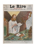 Jesus Christ Reading the Peace Plan Issued by Pope Benedict XV, Front Cover Illustration from 'Le… Giclee Print by Adolphe Leon Willette