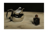 George III Silver Jug and Inkpot, 2011 Giclee Print by James Gillick
